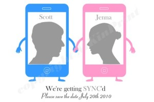 His and Hers iPhone Save the Dates